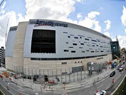 concrete prep & install at convention centers & arenas