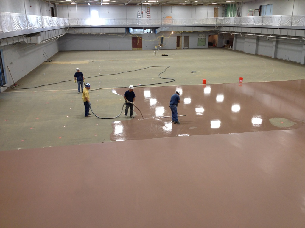 Concrete polishing epoxy overlays chicago fort myers for Concrete floor leveling